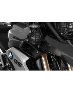 Set of LED auxiliary headlights, fog/fog black aluminium for BMW R1250GS/ R1200GS from 2013