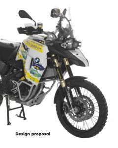 Large front tank BMW F800GS Adventure, black