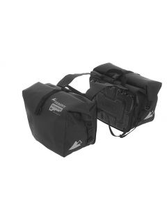 Saddle bags ENDURANCE Velcro (pair), black, by Touratech Waterproof
